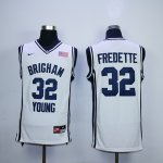 ncaa brigham young #32 fredette white jerseys