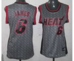 women nba miami heat #6 james grey [static fashion swingman]
