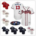 Baseball Atlanta Braves Stitched Flex Base Jersey and Cool Base Jersey