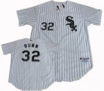 Baseball Jerseys chicago white sox #32 adam dunn white[pinstripe