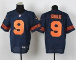 nike nfl chicago bears #9 gould elite blue [number orange]
