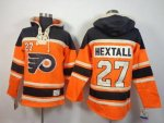 nhl philadelphia flyers #27 hextall orange-black [pullover hoode