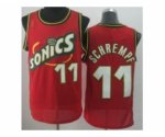 nba seattle supersonics #11 schrempf red [revolution 30 throwbac