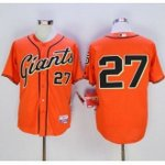 mlb san francisco giants #27 juan marichal orange cool base jerseys