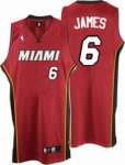 Kids Miami Heat #6 LeBron James red
