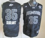 2013 nba all star oklahoma city thunder #35 kevin durant black j