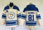 Penguins #81 Phil Kessel Cream Sawyer Hooded Sweatshirt Stitched NHL Jersey