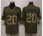 nike detroit lions #20 sanders army green salute to service limi