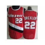 nba portland trail blazers #22 clyde drexler red [revolution 30]