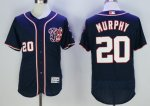mlb washington nationals #20 daniel murphy majestic blue flexbase authentic collection player jerseys