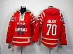 nhl washington capitals #70 holtby red [pullover hooded sweatshi