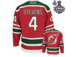 nhl new jersey devils #4 stevens red and green [2012 stanley cup