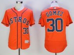 mlb houston astros #30 carlos gomez orange majestic flexbase authentic collection cooperstown jerseys