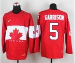 nhl team canada #5 garrison red [2014 world championship]