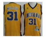 nba indiana pacers #31 miller yellow [stripe fans edition]