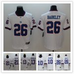 Football New York Giants Stitched White Color Rush Vapor Untouchable Limited Jerseys