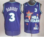 nba 95 all star #3 barros purple jerseys