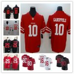 Football San Francisco 49ers Vapor Untouchable Limited Jersey Players #25 Richard Sherman #10 Jimmy Garoppolo Etc.