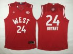 2016 nba all star los angeles lakers #24 kobe bryant red jerseys