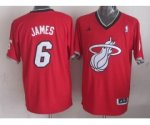 nba miami heat #6 james red [2013 Christmas edition]
