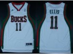 nba milwaukee bucks #11 ellis white [revolution 30 swingman]