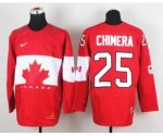 nhl team canada #25 chimera red [2014 world championship][chimer