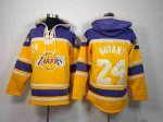 nba los angeles lakers #24 kobe bryant purple-yellow [pullover h