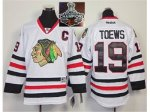 NHL Chicago Blackhawks #19 Jonathan Toews White 2015 Stanley Cup