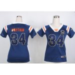 nike women nfl chicago bears #34 walter payton blue [fashion Rhi