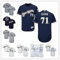 Baseball Milwaukee Brewers #71 Josh Hader Stitched Cool Base And Flex Base Jersey