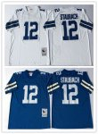 Football Men's Dallas Cowboys #12 STAUBACH Mitchell & Ness Retired Player Throwback Jersey