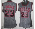 women nba chicago bulls #23 jordan grey [static fashion swingman