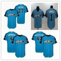 Baseball American League Astros Blue 2017 MLB All Star Game Home Run Derby Player Jersey