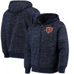 Football Chicago Bears G III Sports By Carl Banks Discovery Sherpa Full Zip Jacket Heathered Navy