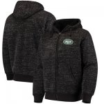 Football New York Jets G III Sports By Carl Banks Discovery Sherpa Full Zip Jacket Heathered Black