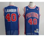 nba detroit pistons #40 laimbeer blue [swingman]