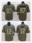 Football New England Patriots Stitched Olive and Camo 2017 Salute to Service Limited Jersey