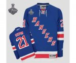 nhl new york rangers #21 higgins blue [2014 stanley cup]
