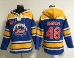 mlb jerseys new york mets #48 Jacob DeGrom Blue Sawyer Hooded Sw