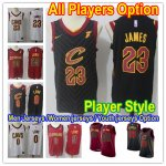 Basketball Cleveland Cavaliers All Players Option Authentic Icon Edition Jersey- Player Style