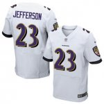 Men's NFL Baltimore Ravens #23 Tony Jefferson Nike White Stitched Elite Jerseys
