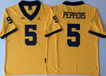 Michigan Wolverines Yellow #5 Jabrill Peppers College Jersey