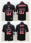 Football New England Patriots Stitched Black USA Flag Rush Limited Jersey