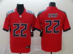 2020 New Football Tennessee Titans #22 Derrick Henry Red Inverted Limited Jersey