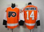 nhl philadelphia flyers #14 couturier orange jerseys