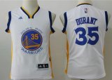 youth golden state warriors #35 kevin durant adidas white jerseys