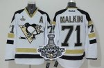 Men Pittsburgh Penguins #71 Evgeni Malkin White 2014 Stadium Series 2017 Stanley Cup Finals Champions Stitched NHL Jersey