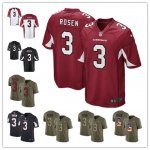 Football Arizona Cardinals #3 Josh Rosen 2018 NFL Draft First Round Pick Jerseys