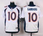 nike denver broncos #10 sanders white elite jerseys