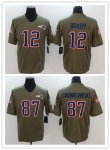 Football New England Patriots Stitched Olive 2017 Salute to Service Limited Jersey